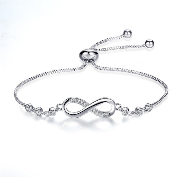 Elegant Diamond Charm Bracelet Love 925 Siver Female Bracelet - Summer Fashionista
