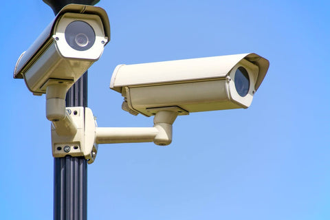 security cameras outside a building
