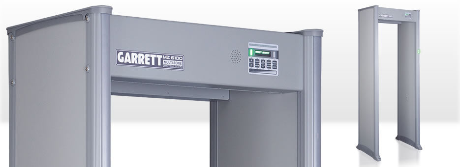 Garrett MZ 6100 Walk Through Metal Detector - Security Detection
