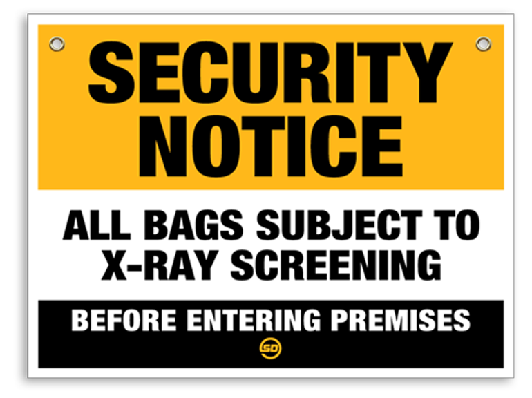 X-ray In Use Sign - Security Detection