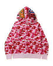 BAPE BIG ABC CAMO SHARK WIDE FULL ZIP DOUBLE PINK
