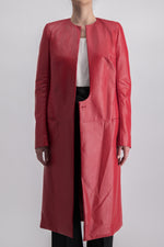 HAIDER ACKERMANN CONSTRUCTED LEATHER COAT