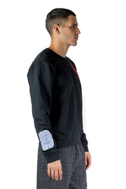 MCQ MUTUAL TRUST VISION92 SWEATSHIRT WASHED BLACK