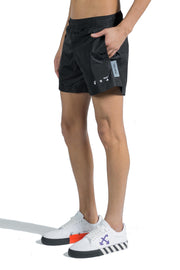 OFF WHITE LOGO SWIMSHORTS BLACK WHITE
