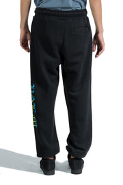PALM ANGELS HUE GOTHIC LOGO SWEATPANTS BLACK MULTICOLOR