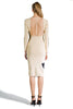 OFF WHITE FRONT N BACK DRESS BLACK BEIGE