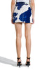 OFF WHITE DENIM COW MINI SKIRT BEIGE BLUE