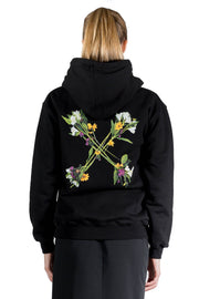 OFF WHITE FLOCK ARROW REG HOODIE BLACK GREEN
