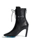Off White High Heel Ankle Boots Black