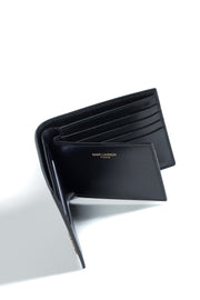 SAINT LAURENT LEATHER WALLET WITH CARD HOLDER
