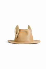 UNDERCOVER RABBIT FUR WITH EARS AND MIDDLE HAT CAMEL