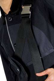 SACAI NYLON TWILL X COTTON JACKET