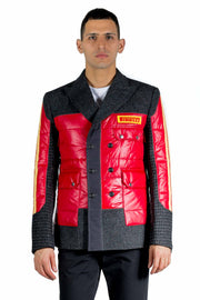 JUNYA WATANABE QUILTED PANEL SINGLE-BREASTED JACKET