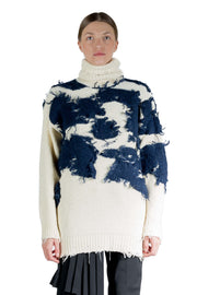 OFF WHITE MOO TURTLENECK BEIGE BLUE