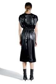 RICK OWENS FLUID JERSEY DRAWSTRING DRESS