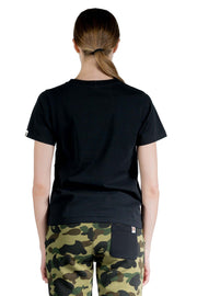 BAPE W DENIM COLLEGE TEE BLACK