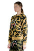 BAPE 1ST CAMO SHARK CREWNECK YELLOW