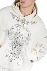 Givenchy Oversized Printed Hoodie Clay