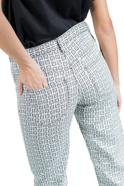 Givenchy 4G Jacquard Denim Effect Pants Black And White