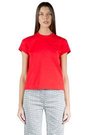 Givenchy Slim Fit T-Shirt With Embossed Chain Collar Red