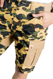 BAPE 1ST CAMO WIDE 6POCKET SHORTS YELLOW