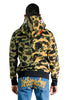BAPE 1ST CAMO HALF SHARK FULL ZIP HOODIE GREEN/YELLOW
