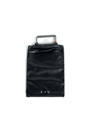 OFF WHITE  LEATHER MED ALLEN SNAP TOTE BLACK