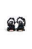 OFF WHITE  PATENT CURTAIN ALLEN SANDAL BLACK