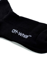 OFF WHITE ARROW MID SPORT SOCKS BLACK WHITE