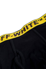 OFF WHITE SINGLE CLASSIC INDUSTR BOXER BLACK YELLOW