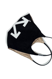 OFF WHITE ARROW SIMPLE MASK BLACK WHITE