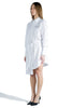 OFF WHITE POPELINE PLISSE SHIRT DRESS WHITE BLACK