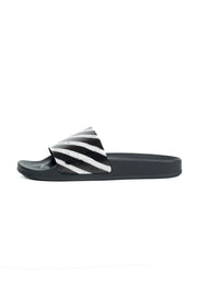 OFF WHITE SPRAY STRIPES SLIDER BLACK WHITE