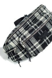 SAINT LAURENT NUXX TARTAN WHITE BELT BAG