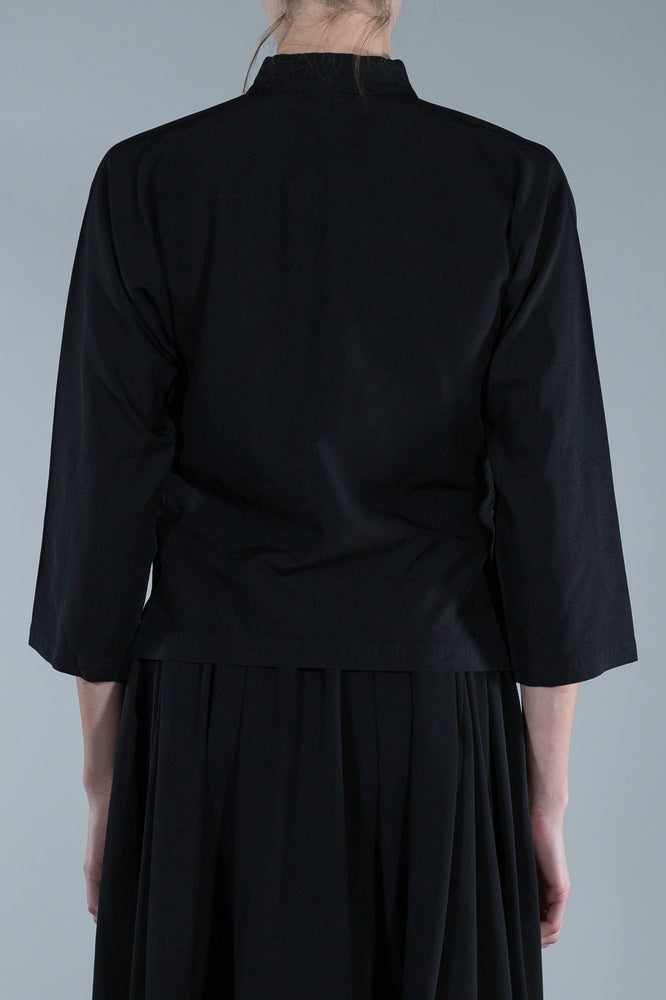 COMMES DES GARCONS BLACK JACKET WITH MAO COLLAR