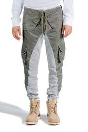 GREG LAUREN WASHED SATIN 50/50 LONG SLIM