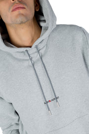 SAINT LAURENT ARCHIVE LOGO HOODIE GREY