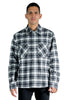 OFF WHITE OW ALLOVER CHECK FLANN SHIRT BLACK