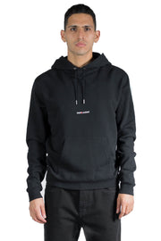 SAINT LAURENT ARCHIVE LOGO HOODIE BLACK