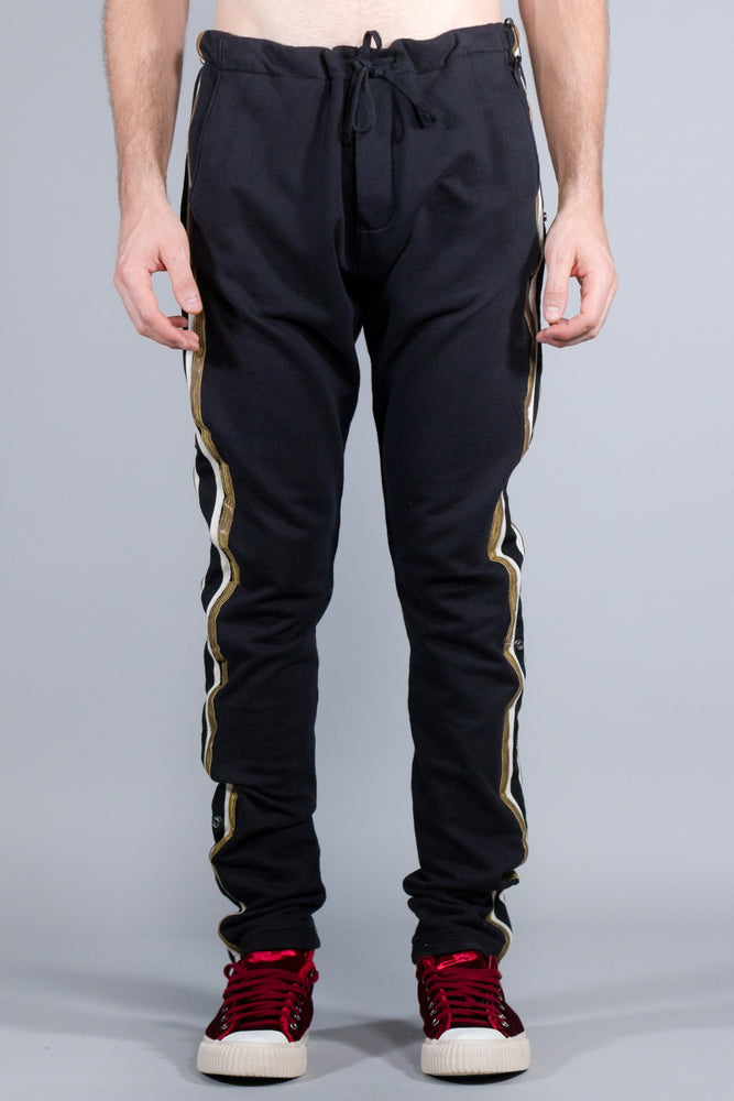 Greg Lauren Black Royal Long Pant