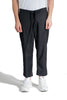GREG LAUREN WOVEN SLIM LOUNGE PINSTRIPE BLACK