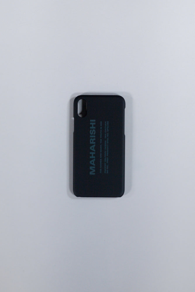 MAHARISHI MILTYPE IPHONE XS BLACK