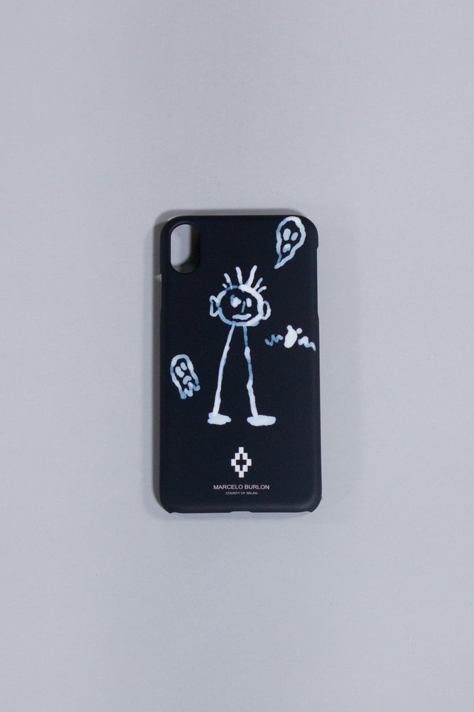 MARCELO BURLON KID SKETCH X CASE BLACK WHITE