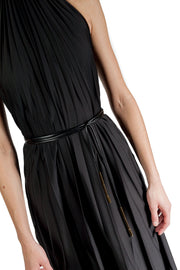 ELLERY THE GREAT HALTER PLEATED DRESS