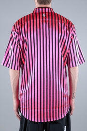 MARCELO BURLON CONFIDENCIAL STRIPES SHIRT MULTICOLOR WHITE
