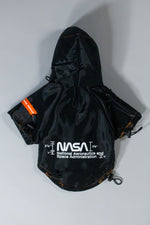 HERON PRESTON NASA DOG RAINCOAT BLACK WHITE