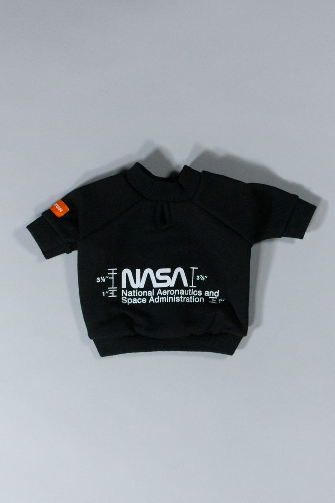 HERON PRESTON NASA DOG CREWNECK BLACK WHITE