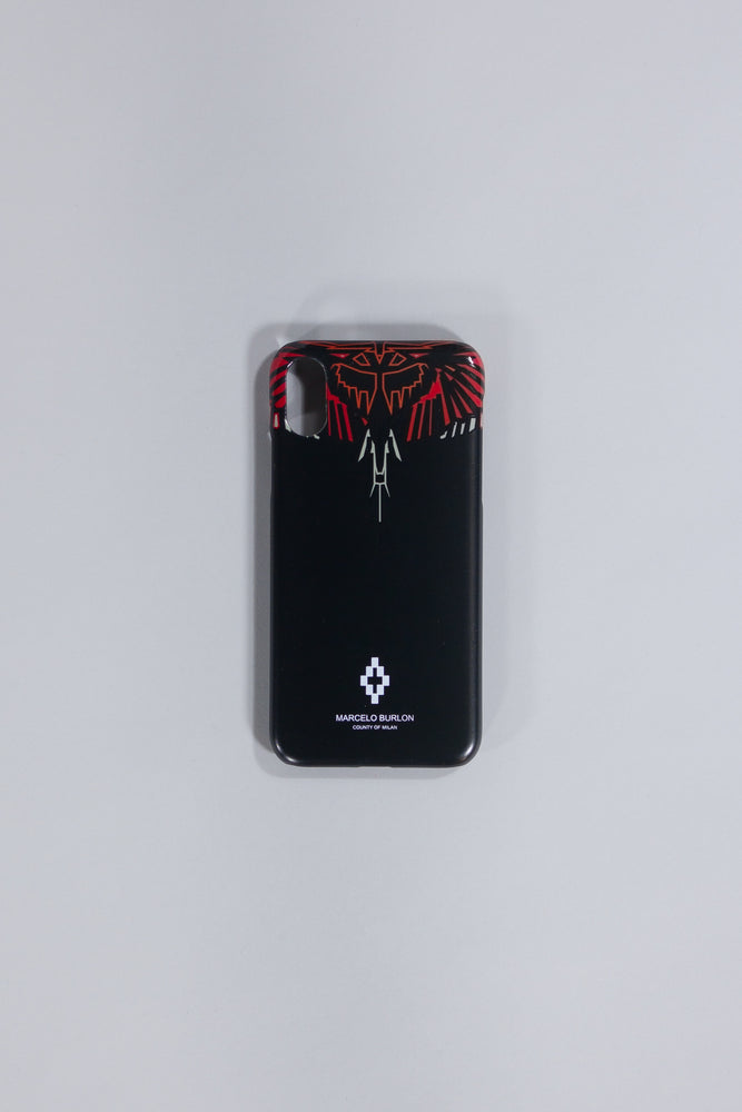 MARCELO BURLON GEOMETRIC WINGS X CASE BLACK MULTICOLOR