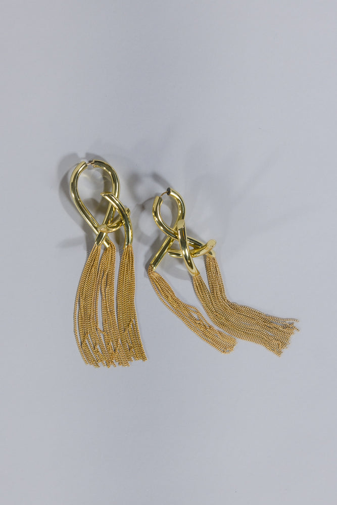 ELLERY INTELLECTUAL KNOTTED CHAIN EARRINGS
