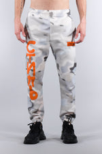 HERON PRESTON SHORT LEG SWEATPANTS SLIM CAMO MULTICOLOR ORANGE